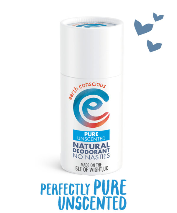 Earth Conscious Pure Unscented Deodorant Stick | Vegan Bodycare | Cruelty Free | Plastic Free | Paraben Free | Aluminium Free | Natural Ingredients |