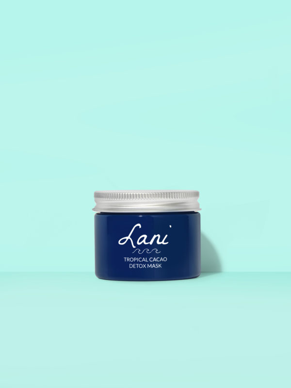 Lani Blue Tropical Cacao Detox Mask | Vegan Skincare | Cruelty Free | Natural Ingredients | Plastic Free | Eco-Friendly | Ethical | Low Waste Beauty
