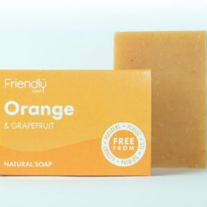 Friendly Soap Orange & Grapefruit Soap | Refreshing & Enlivening | Vegan | Plastic Free | Cruelty Free | Eco-Friendly | Natural | Low Waste | Bodycare