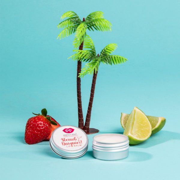 Pura Cosmetics Strawb Daiquiri Lip Balm | Heavenly hydration, silky smooth & sensational softness | Cruelty Free, Plastic Free, Natural