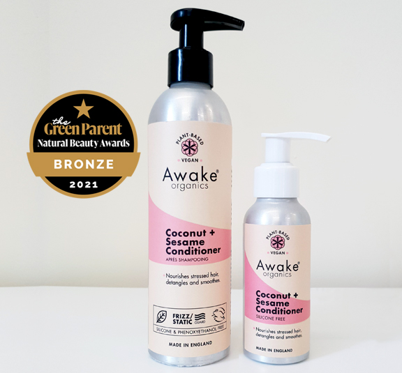 Awake Organics Natural Hair Growth Conditioner | A rich conditioner to nourish fragile hair, detangle and smooth frizz | Vegan, Cruelty Free