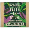 Faith In Nature - Lavender & Geranium Shampoo Bar | Organic, natural hydration | Vegan | Cruelty Free | Plastic Free | Low Waste | Natural Ingredients